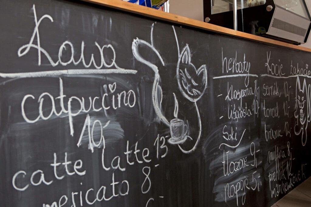 Menu w Kot Cafe