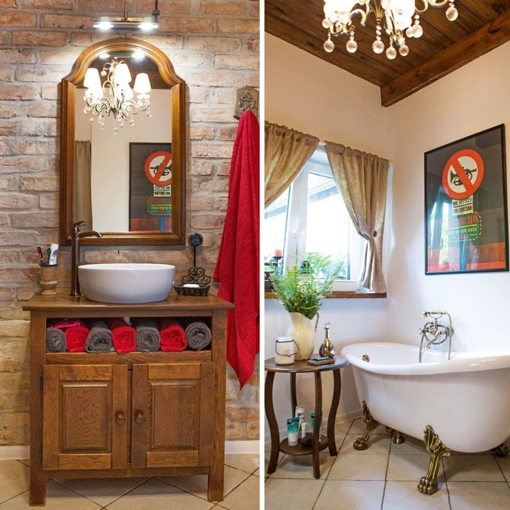 Łazienka w wiejskim stylu