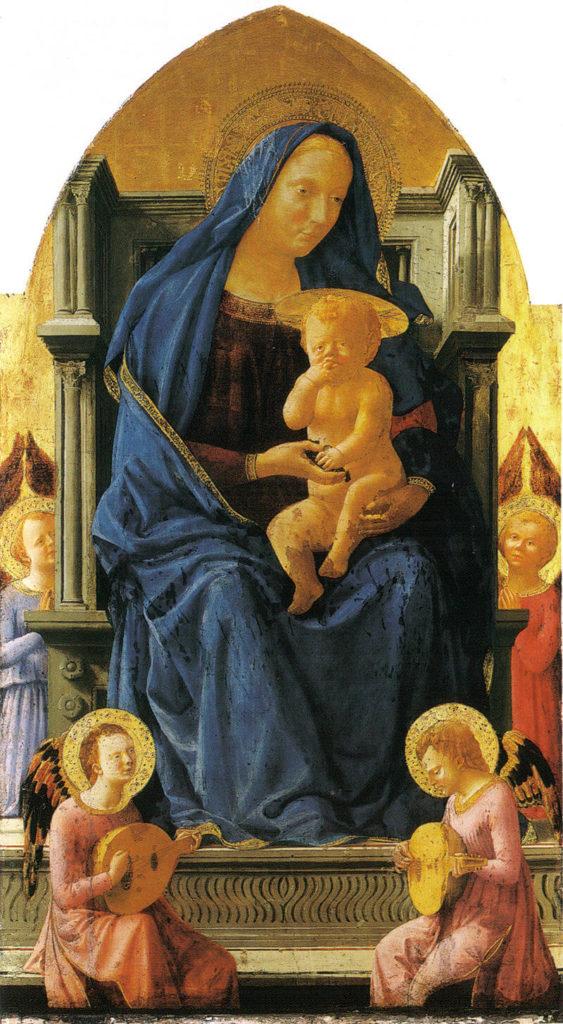 Masaccio, Madonna z dzieciątkiem i aniołami