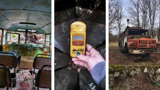 Złomowisko sprzętu używanego do usuwania skutków awarii w Czarnobylu