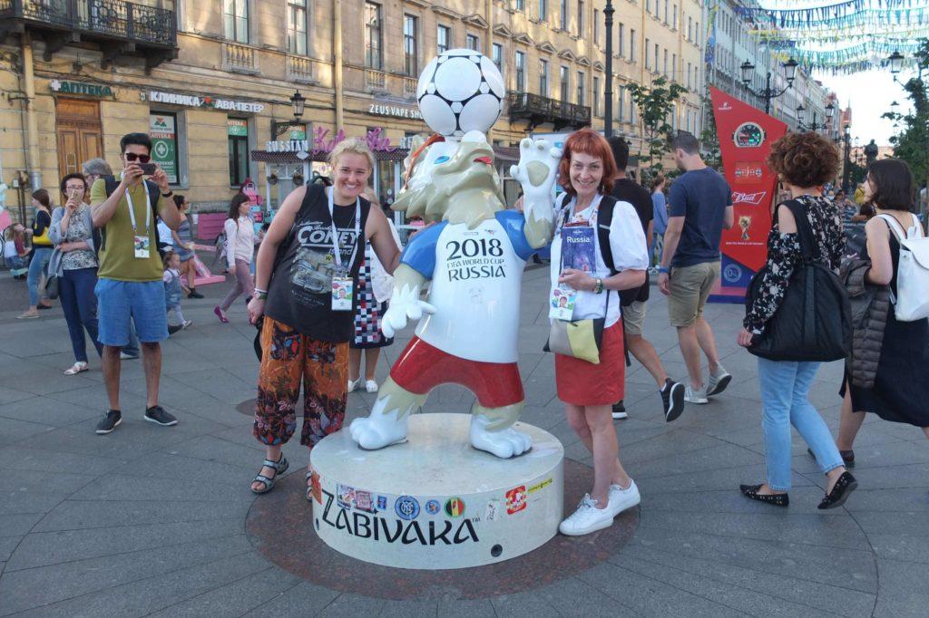 Od lat podróżuję razem z mamą. Tu w Sankt Petersburgu, przed meczem o III miejsce Mistrzostw Świata w Piłce Nożnej